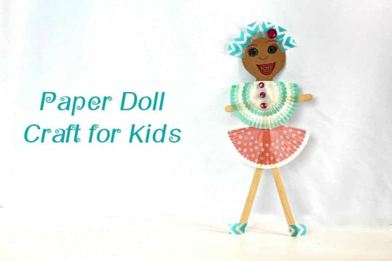 Looking for a fun way to keep kids busy while you work on all your holiday baking and wrapping? Check out this cute DIY paper doll craft for kids!