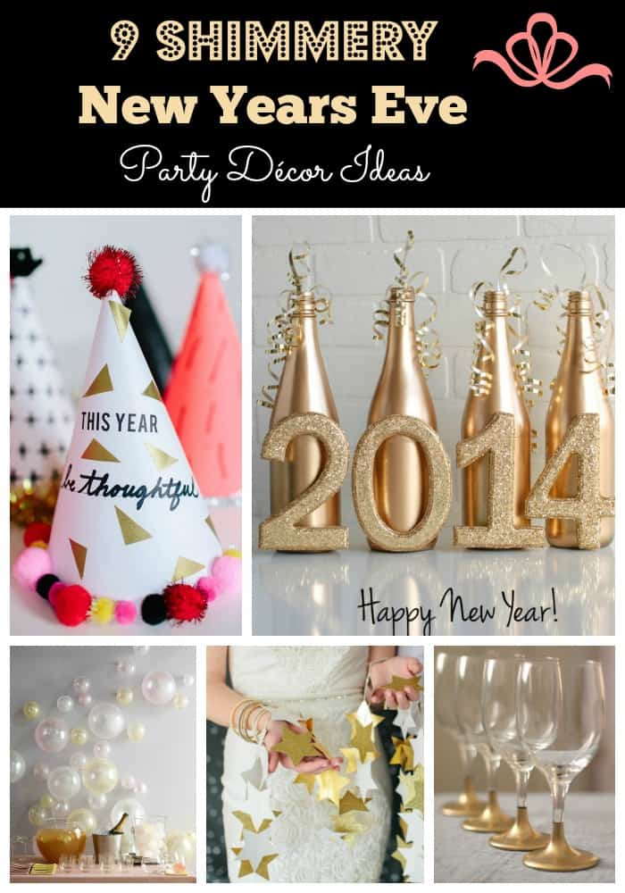 Make your New Years Eve party sparkle and shine with our simple and quick DIY decor ideas.