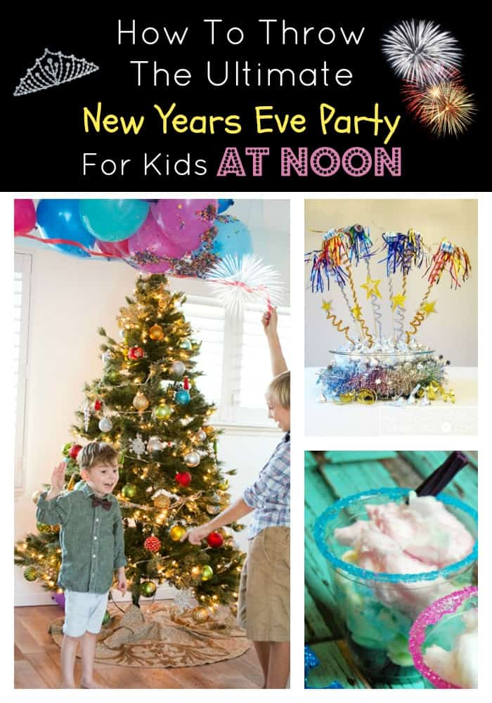 Throw the ultimate New Years Eve party for kids at noon! Everyone will have a blast with these ideas perfect for families.