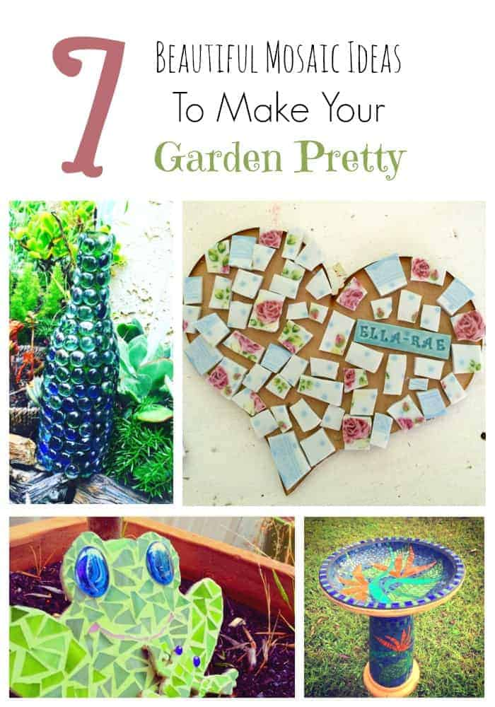 Bring a little art into your garden with these fun DIY garden mosaic projects that you can do in a weekend. This is such a beautiful way to reuse all those broken and chipped plates and mugs. Of course, if you don't want to smash your china, you can always buy tile at a hardware store.