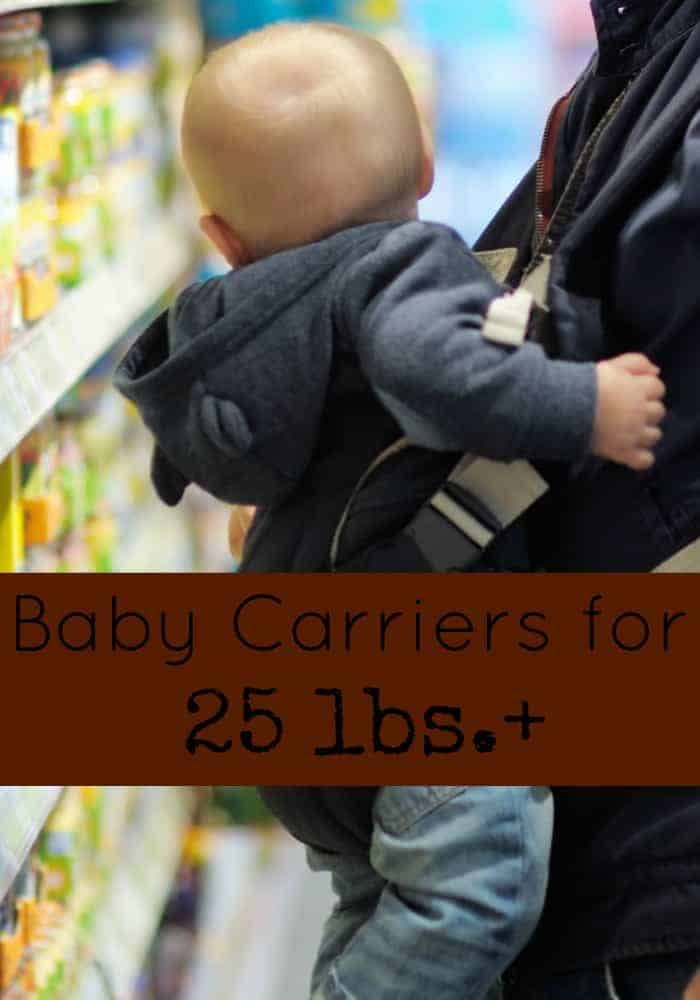 Tote your baby in comfort through the toddler years with our picks for the best baby carriers for 25+ lbs!