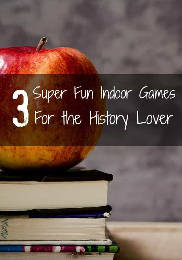 These fun indoor history games make for a unique theme party or really help drive home lessons while studying for a big exam. Check them out!