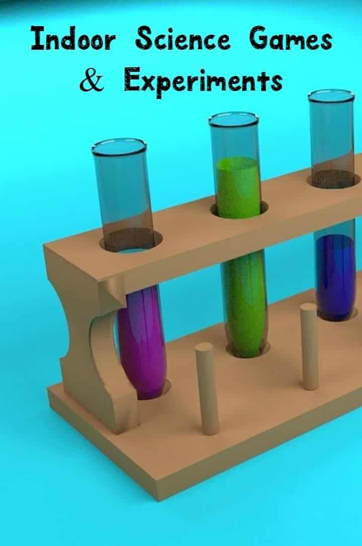 Super fun indoor science games and experiments, right here! Science is fun! Check out these fun games and experiments!