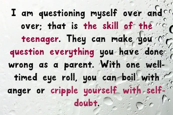 Quote about coping with teenage depression as a parent.