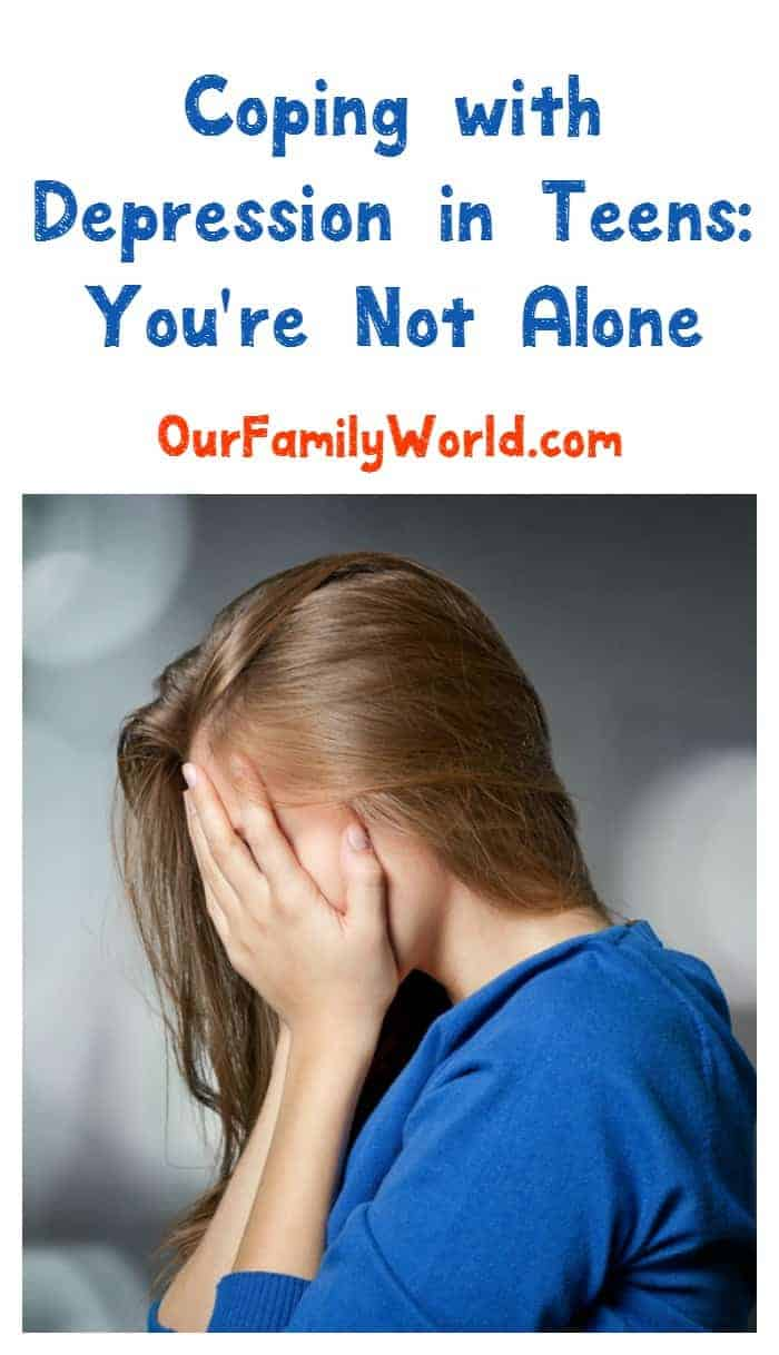 Coping with depression in teens is one of one of the hardest, most heartbreaking parenting challenges. Remember one thing: you are not alone.