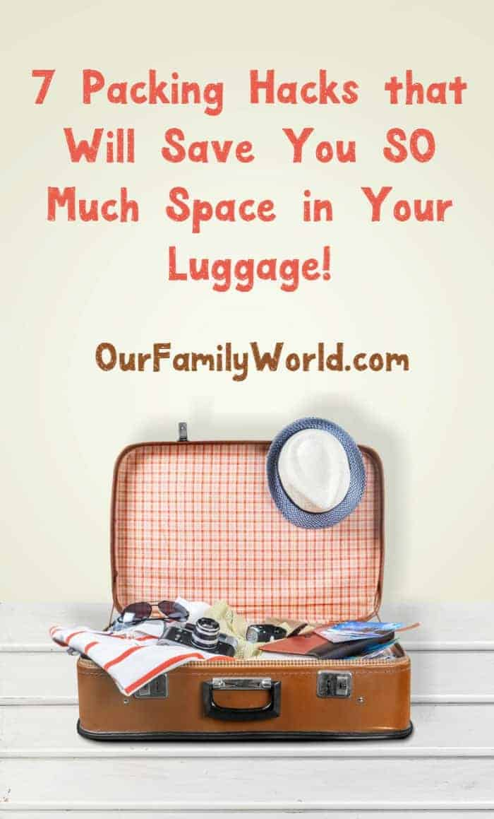Can't seem to fit everything you need for your family vacation into your suitcases? Check out these 7 awesome packing hacks!