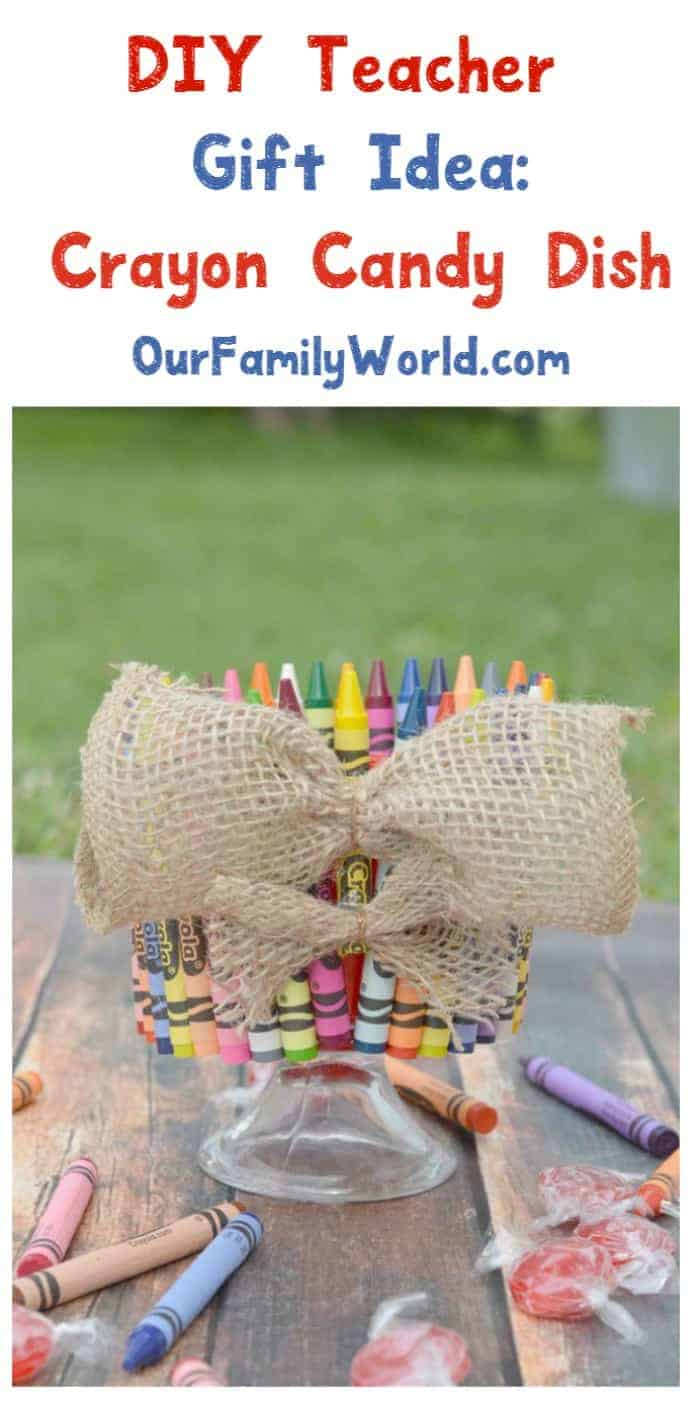 Looking for a cute DIY teacher gift idea that's useful too? Check out this adorable crayon candy dish tutorial!