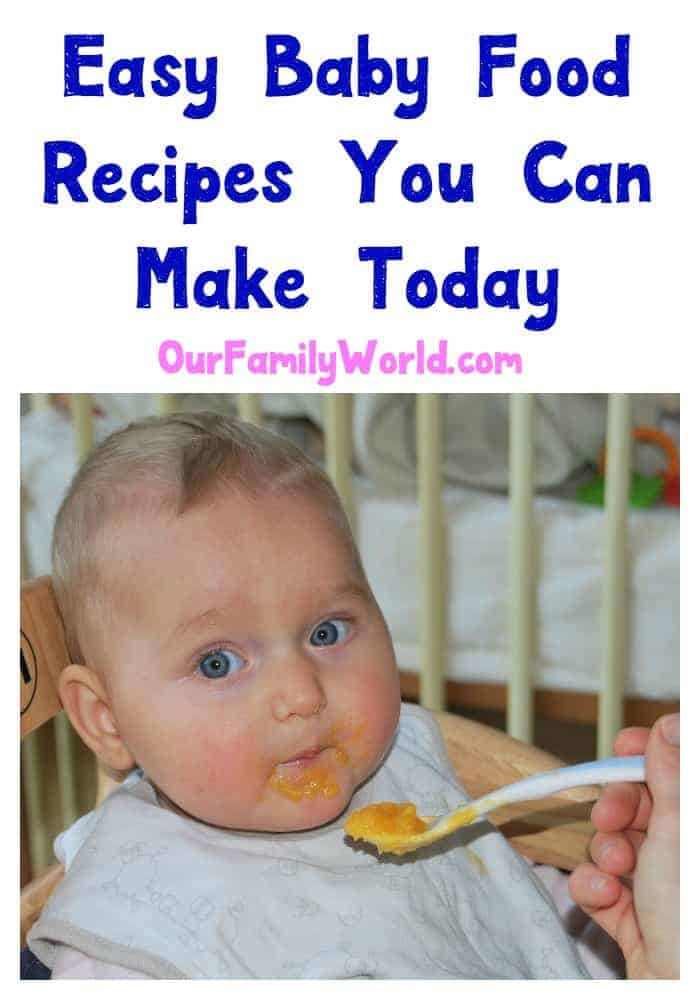 Are you looking for some easy baby food recipes you can make today? You are in luck! Making your own baby food is not as hard as you might think!