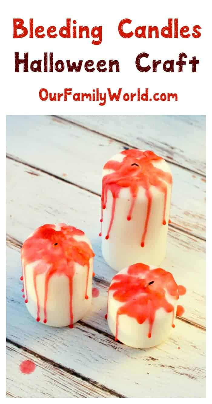 Add a spooky flare to your table with our fun DIY bleeding candles Halloween décor craft! It's super simple and cheap to make! Check it out!