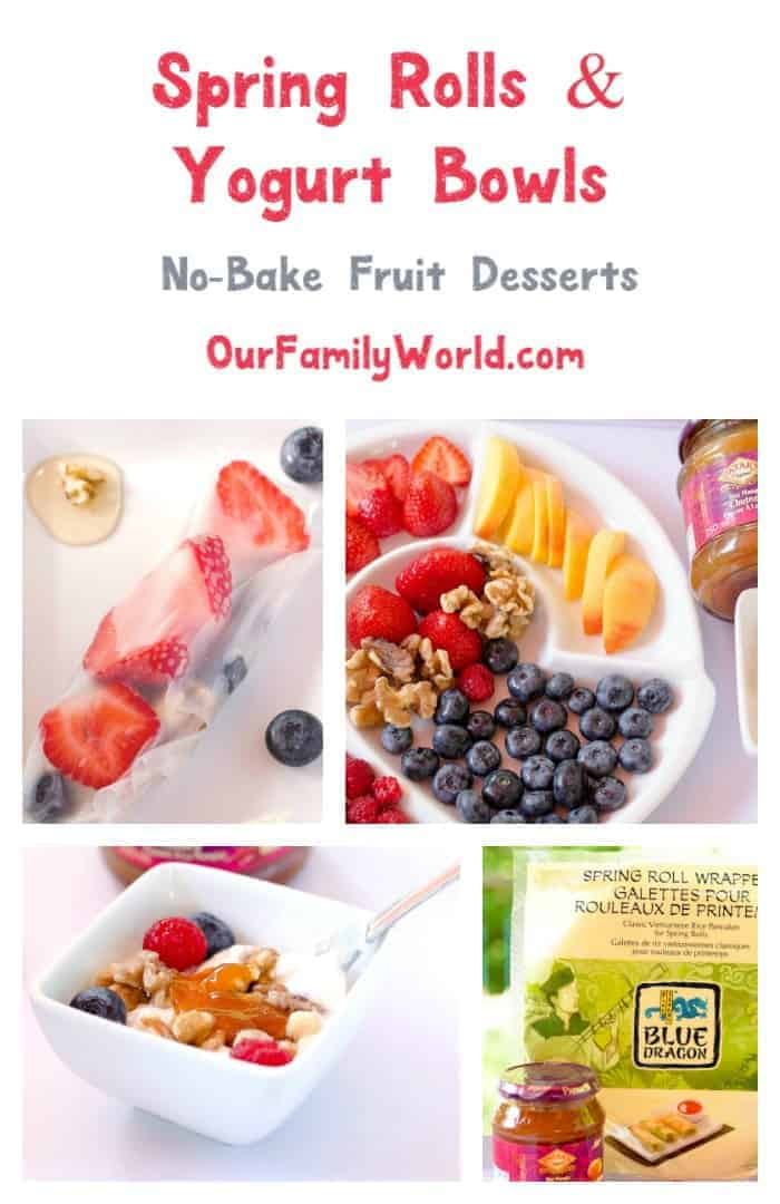 Celebrate the harvests of summer with not just one but two delicious no-bake dessert recipes! Our fruity spring rolls & yogurt bowls have a real tasty kick, thanks to Blue Dragon & Pataks!