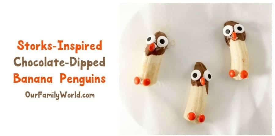 Looking for a super cute Storks movie snack that your kids will love? Check out this easy chocolate-dipped penguins recipe!