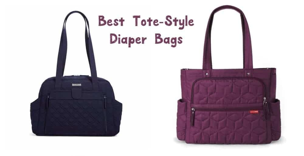 These 5 tote diaper bags prove that you can be stylish while carrying around all your baby's gear! Check them out!