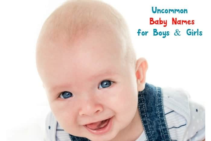 Looking for uncommon baby names for your new little one? We love these unique monikers for boys and girls! Check them out!