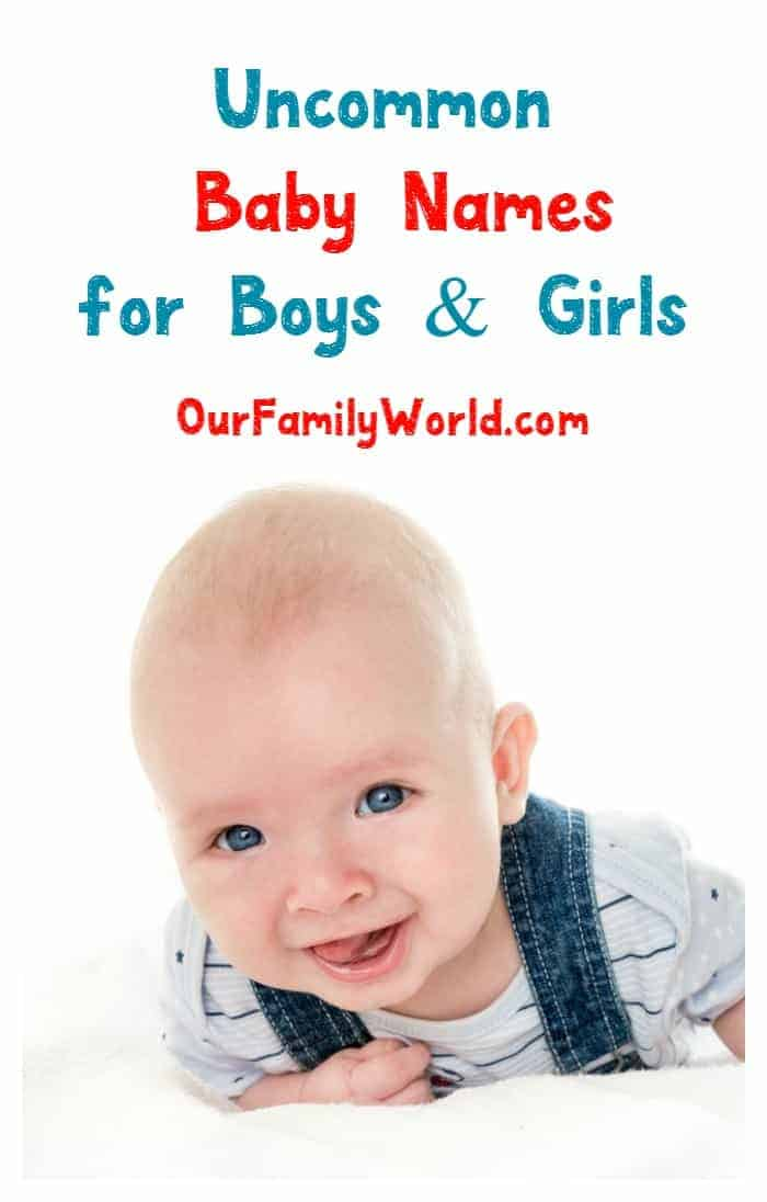 Looking for uncommon baby names for your new little one? We love these monikers for boys and girls! Check them out!