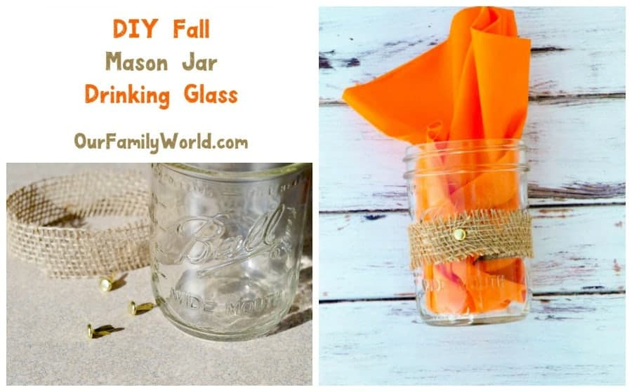 Give your autumn parties a touch of class with our super easy DIY fall mason jar drinking glass craft! You're going to love this tutorial!