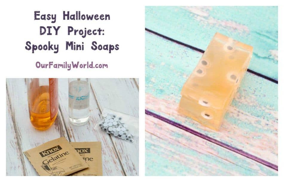 Today we have a super easy Halloween DIY project that I think you'll love! We're making spooky mini soaps! This craft literally cleans up after itself!