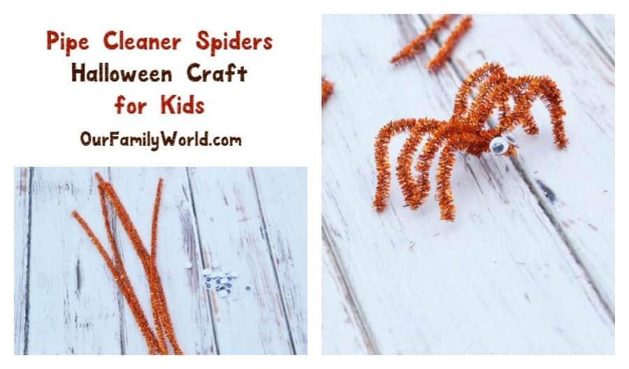 Get ready for another easy Halloween craft for kids! Today we're whipping up some fun & simple pipe cleaner spiders that you can use as spooky decor!