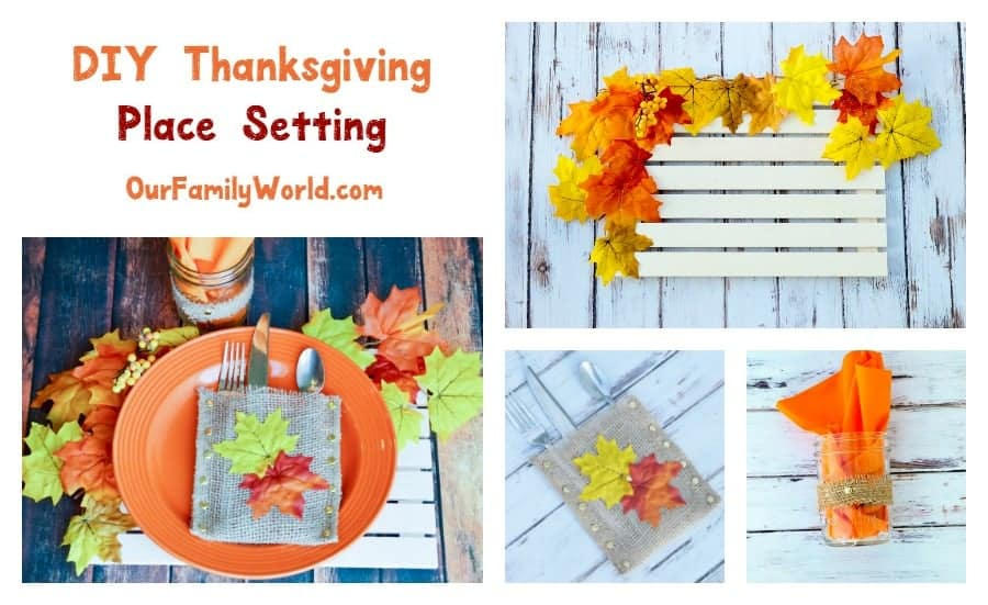 Put Together a Gorgeous DIY Thanksgiving Place Setting