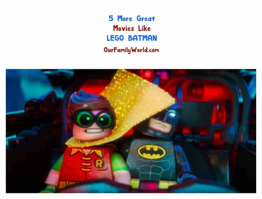 I've been on the hunt for more great family movies like The LEGO Batman movie, and I found a few that I think your family will love, too!