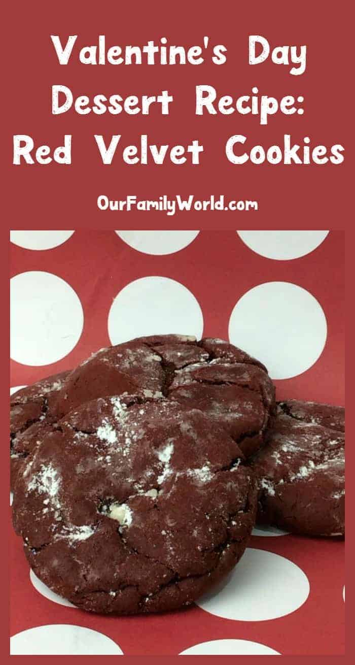 Looking for an easy Valentine's Day dessert idea? These red velvet cookies will be a huge hit with both the kids and adults!