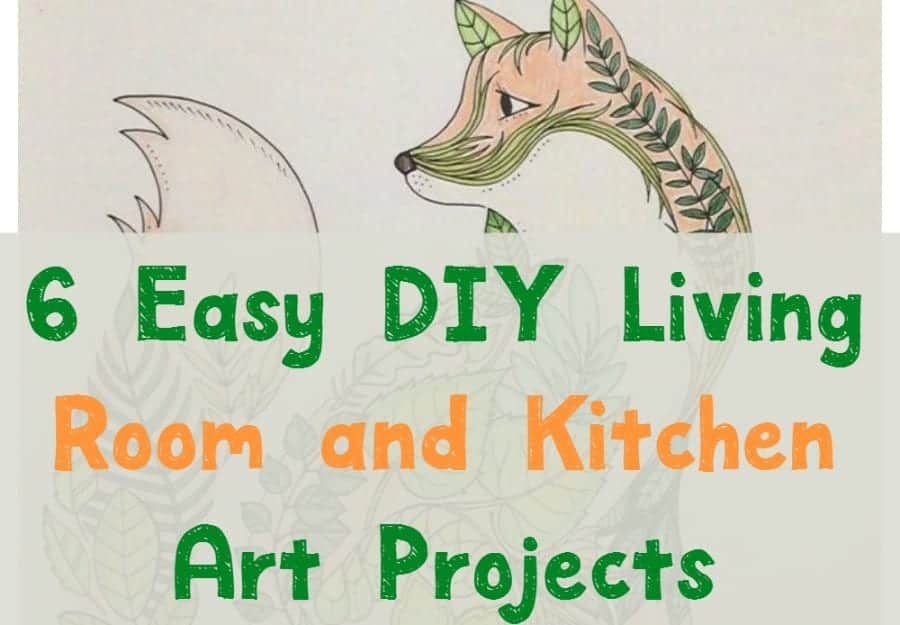 These living room and kitchen DIY art ideas are perfect for decorating your home on a budget! Check them out!
