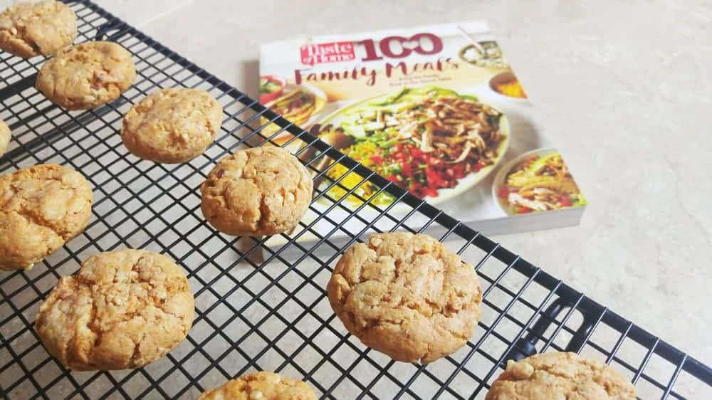 Taste of Home 100 Family Meals Cookbook review: Pecan Butterscotch cookie recipe