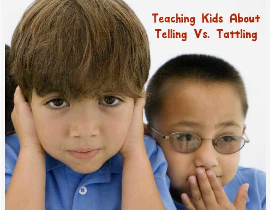Amazing resource for teaching kids the difference between telling or tattling to try right now! Take a look.