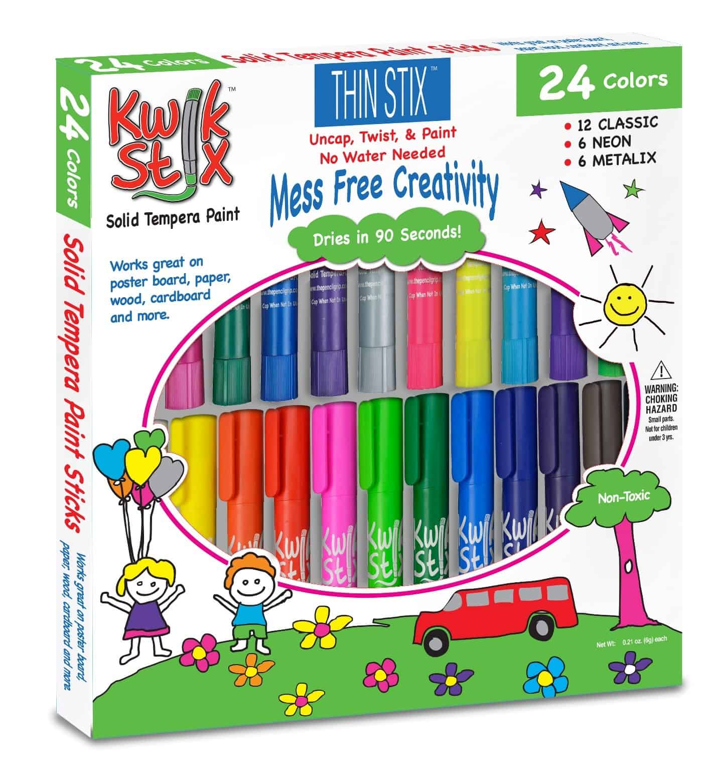 Keep kids creative without making a mess thanks to Thin Stix from Kwik Stix! Check out 5 fun art projects to make with them!