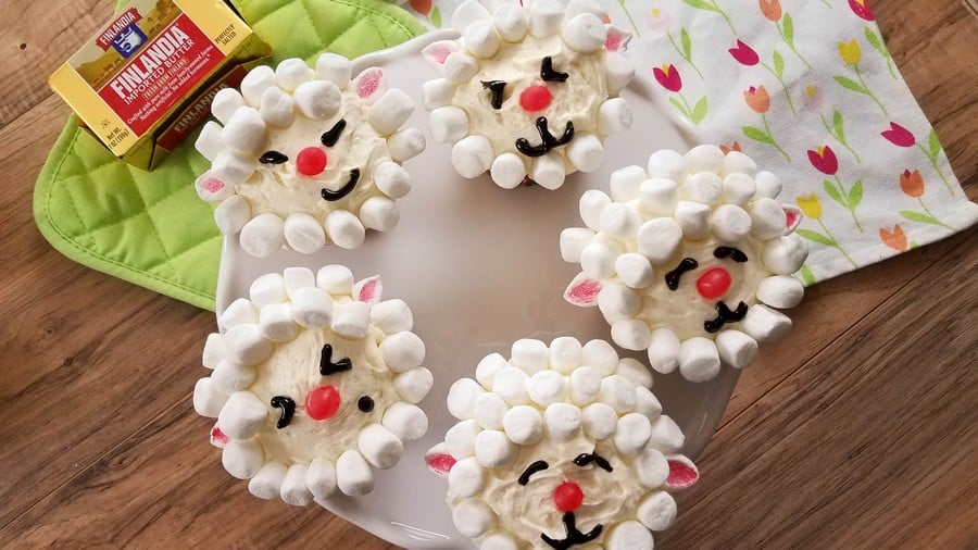 Make adorable Easter desserts the whole family will devour with our yummy lamb cupcakes recipe! The Finlandia butter takes it to whole new levels you just have to taste! Check it out!