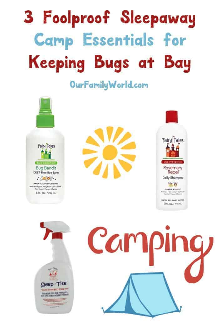 Sending your kids to sleep away camp this year? These are the 3 essentials you absolutely need to be packing with them to keep bugs at bay! Check them out!