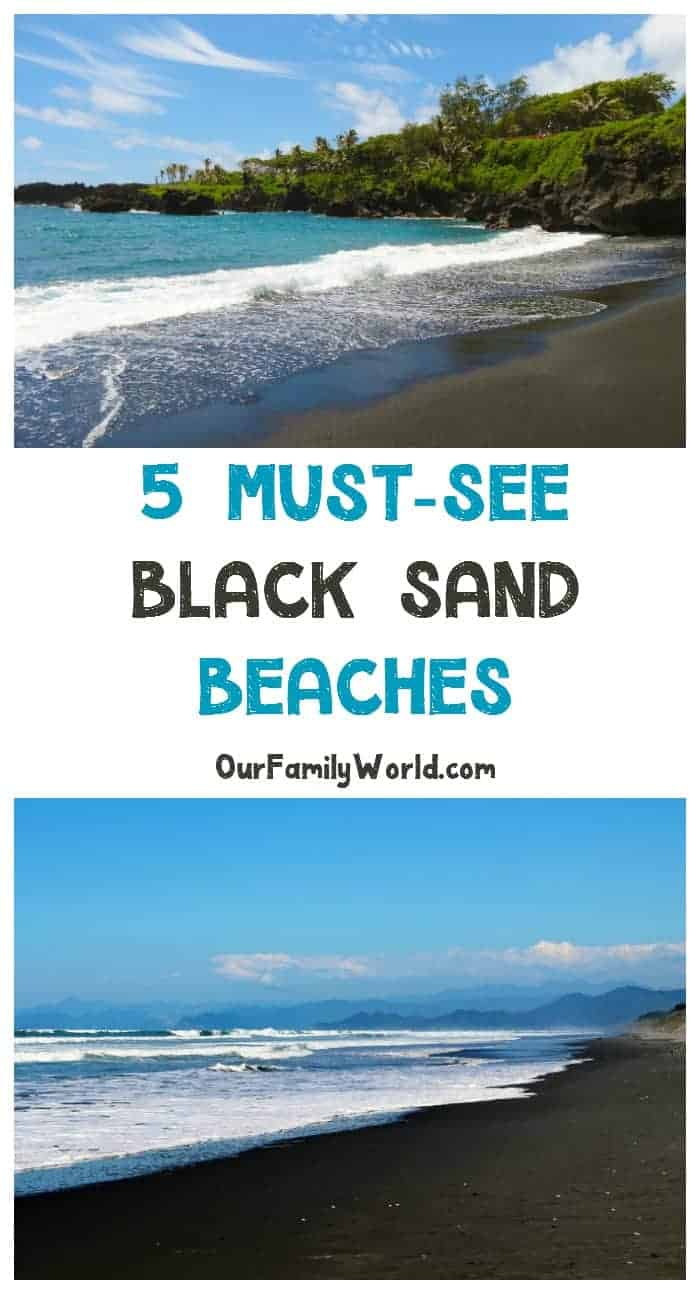 """Who said beach vacations had to involve golden fields of light sand? These 5 must-see black sand beaches will make you want to pack your bag and say """"let's go!"""""""