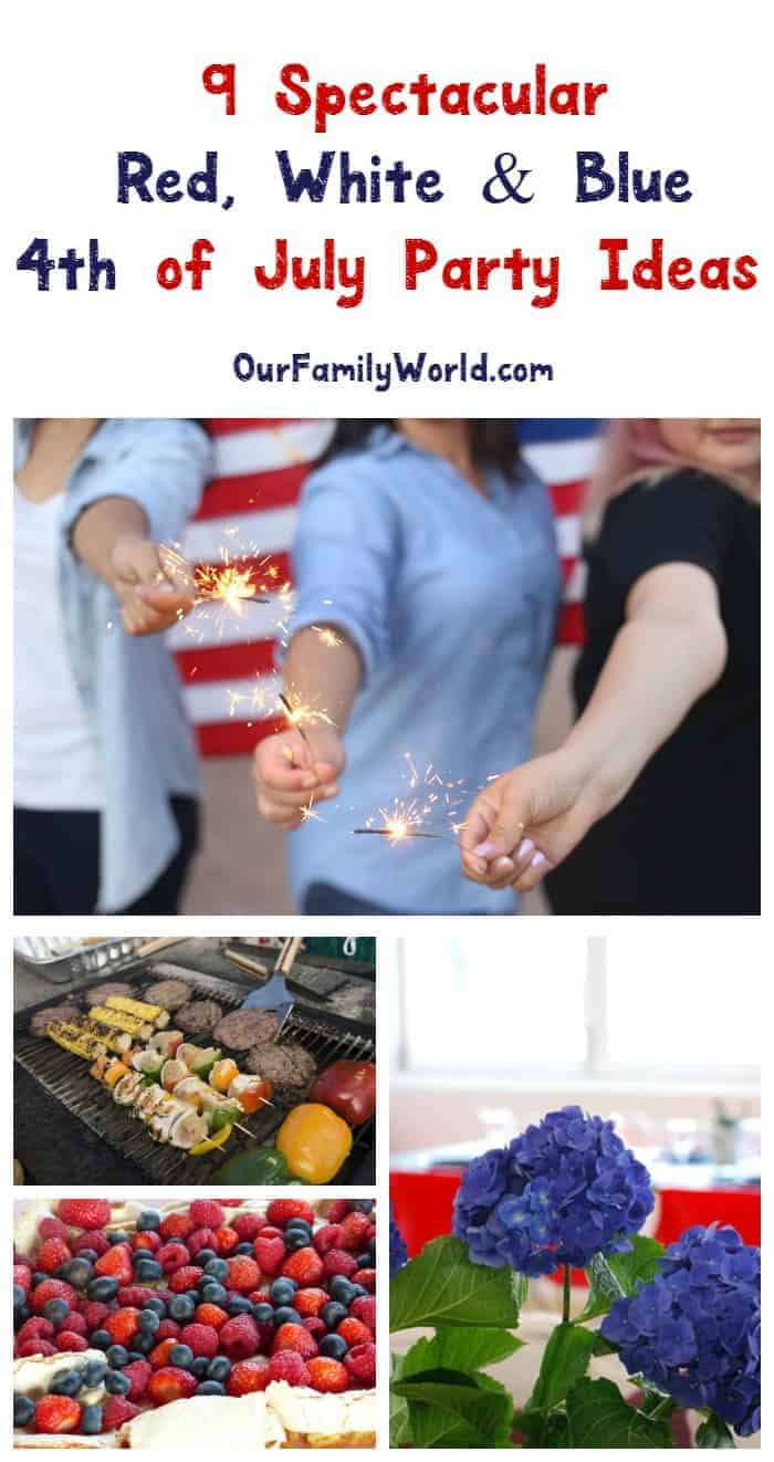 Throw the best bash of the summer with our red, white and blue 4th of July party ideas to really wow your guests! Check them out!