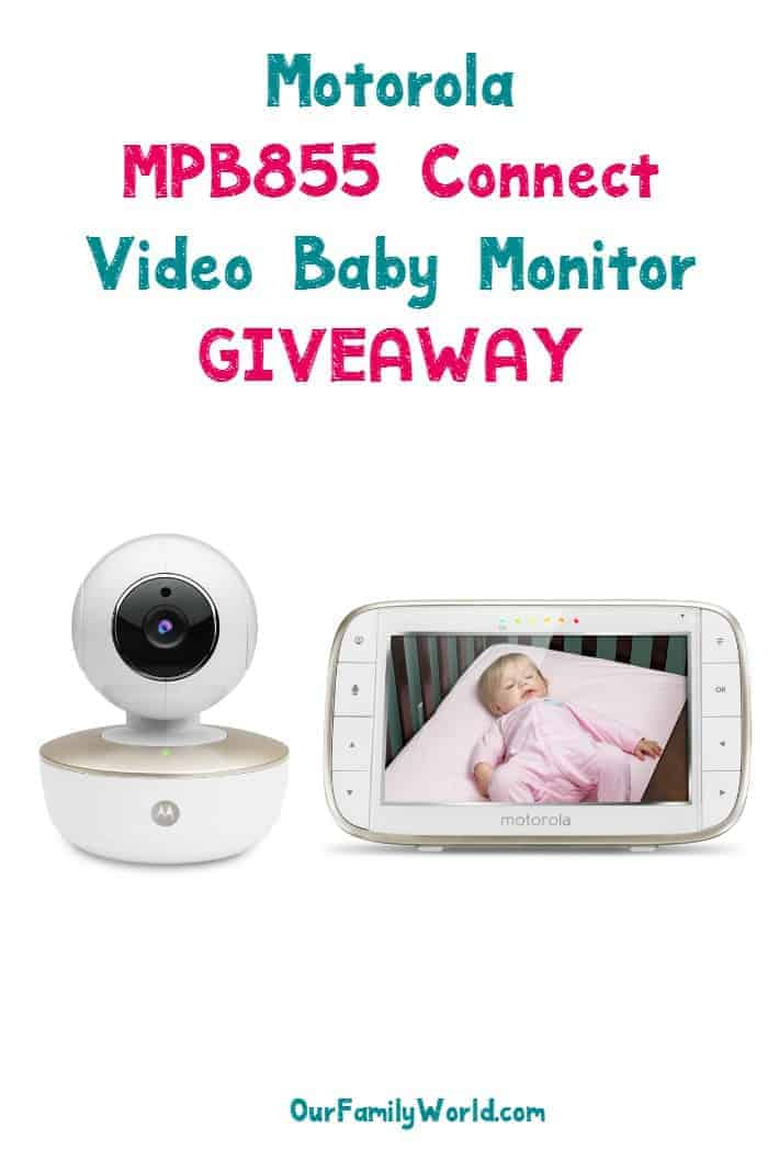 Enter for a chance to win a Motorola Connect video baby monitor & watch your baby dream from anywhere! Open to US Only.