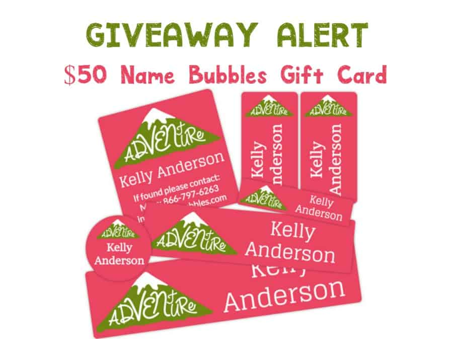 Keep track of all your kids' stuff this summer with Name Bubbles! Enter for a chance to win a $50 gift card!