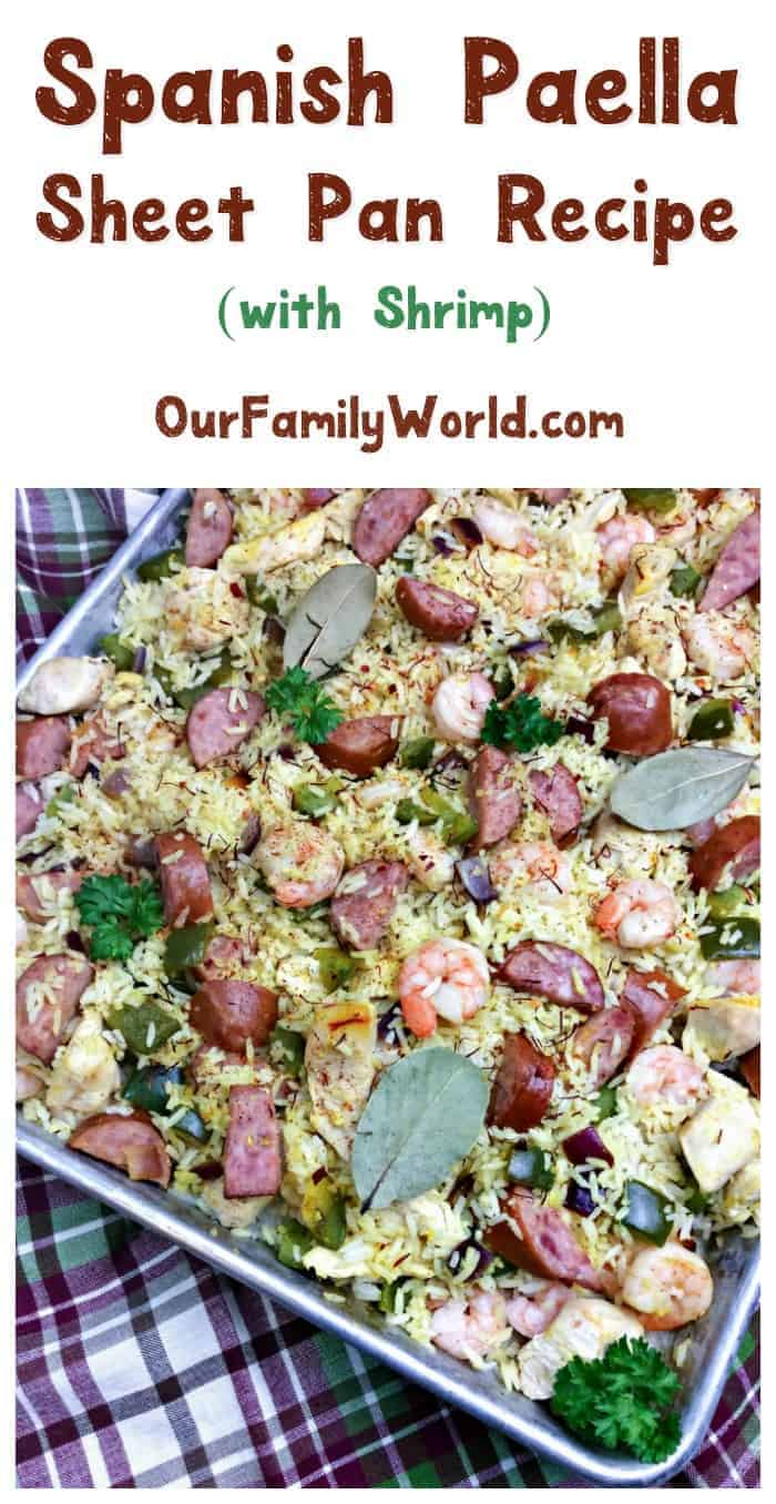 Want to try Spain's most famous dish, but not sure how to prepare it? We've got a delicious sheet pan Spanish Paella recipe that's easy enough to make for a mid-week family meal, yet elegant enough for your upscale dinner parties! Read on to check it out!