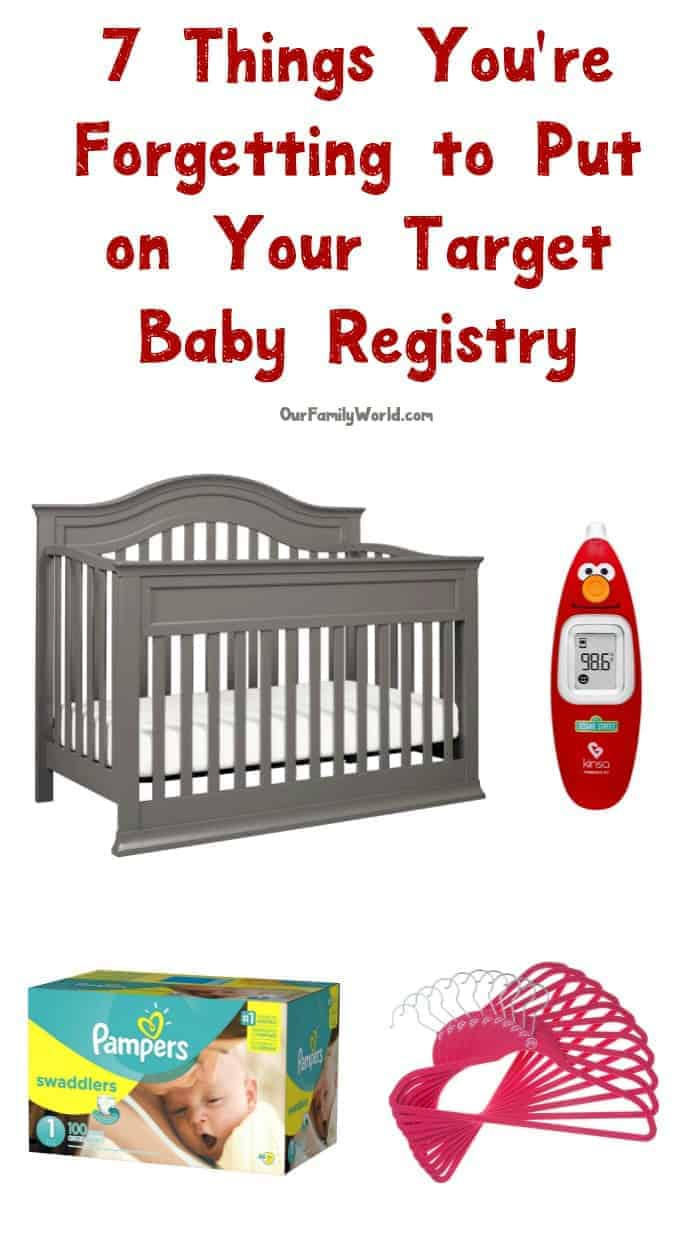 Setting up your Target Baby Registry? I bet you're forgetting to add these things! Check them out!