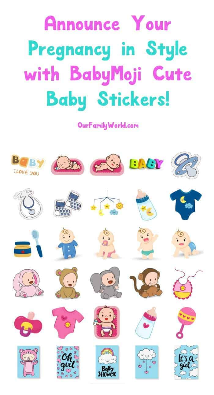 """Looking for a fun way to announce your pregnancy through iMessage without just saying """"hey, I'm pregnant""""? You have to check out BabyMoji, the cutest baby stickers!"""