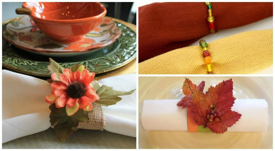 Add a decorative touch to your fall table with these clever DIY napkin ring ideas that are perfect for Halloween and Thanksgiving!