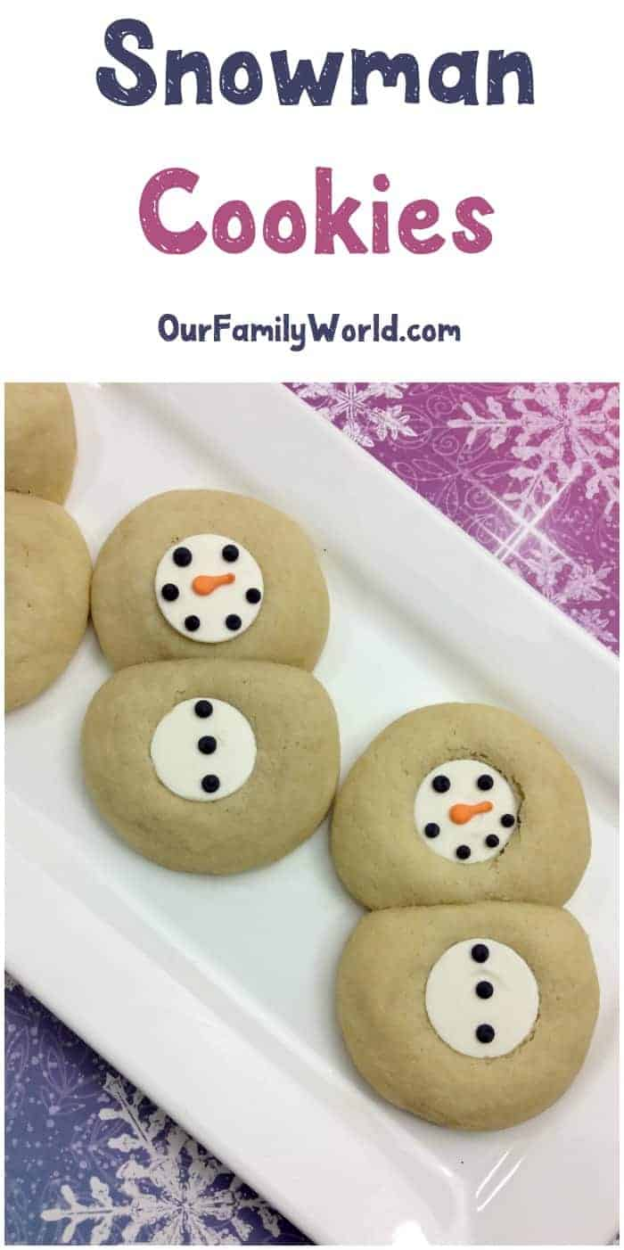 The weather outside may be frightful, but inside it's so delightful when you bake up these delicious snowman cookies! Grab the recipe and make a batch with your kids on a snowy day.
