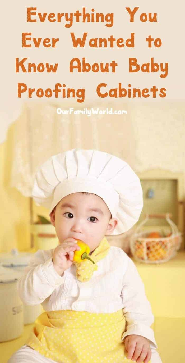 Spending your weekend baby proofing cabinets doesn't exactly sound exciting, I know, but it's something every parent has to deal with before their tot is on the move. Don't worry, though, we've made it easy for you with our handy guide! Check it out!