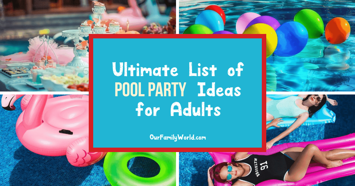 Get ready for some amazing pool party ideas for adults! We're sharing everything you need to pull off the best outdoor bash this summer!Check it out!