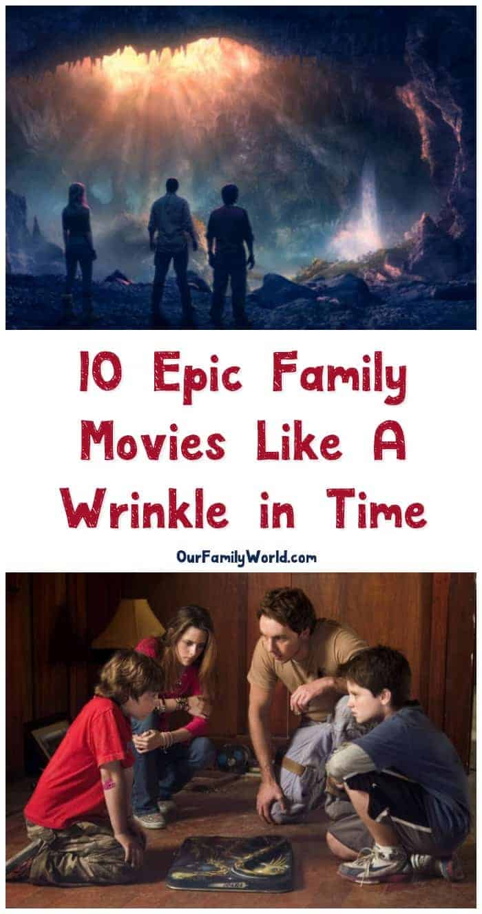 """Looking for more fabulous family adventure movies like A Wrinkle in Time? We've got you covered! I've been on an """"epic adventure"""" binge lately. Check out some of my favorite flicks for family movie night!"""