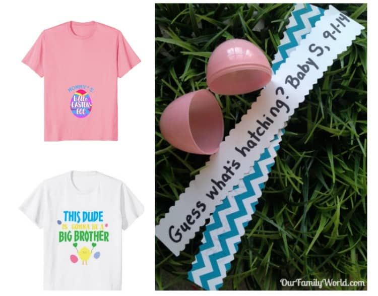 Ready to tell the world your good news this spring? You have to check out these darling pregnancy announcement ideas for Easter! Looks like candy isn't the only thing Peter Cottontail is bringing this year!