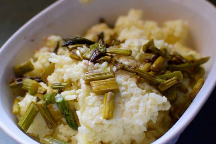 Risotto with Roasted Balsamic Asparagus