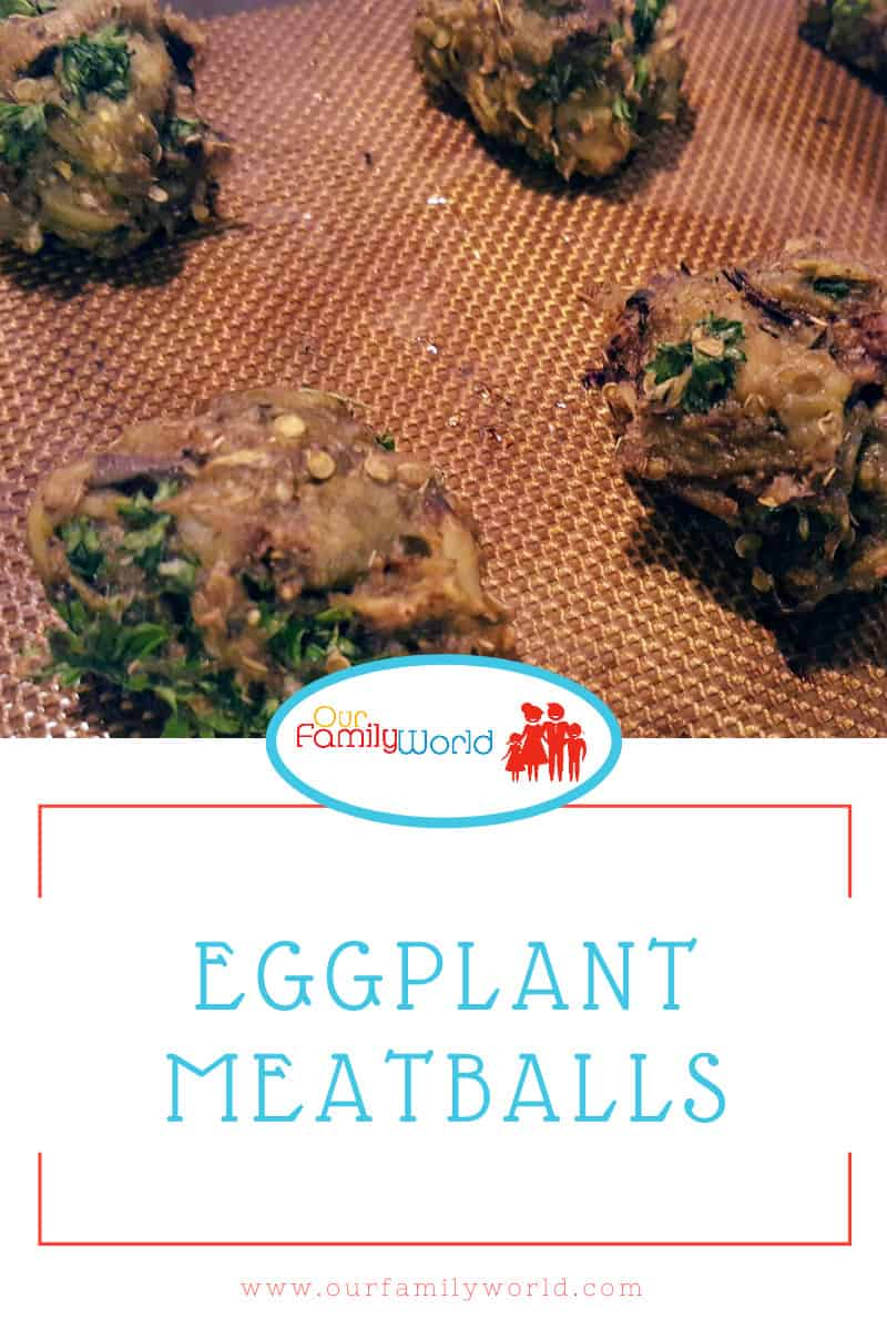 Easy Eggplant Vegetarian Meatballs