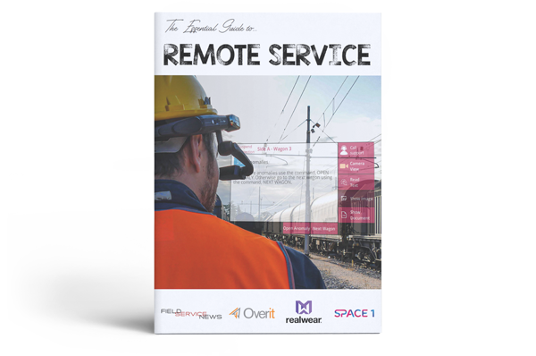 Developed in partnership with OverIT and Realwear and featuring an exclusive interview with Rail Cargo this 22 page eBook looks at the key considerations field service organisations should make when looking at remote service solutions for their field service operations from both a software and hardware perspective