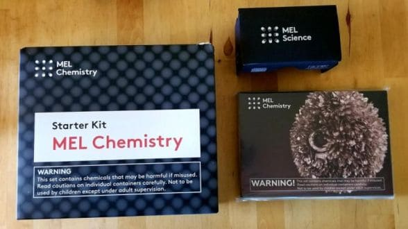MEL Science Chemistry kit unboxed