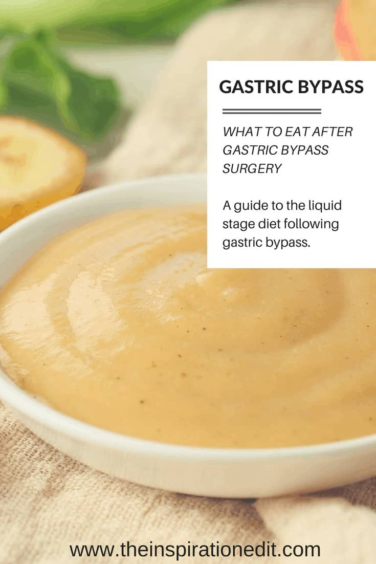 Gastric bypass diet guide and liquid food diet