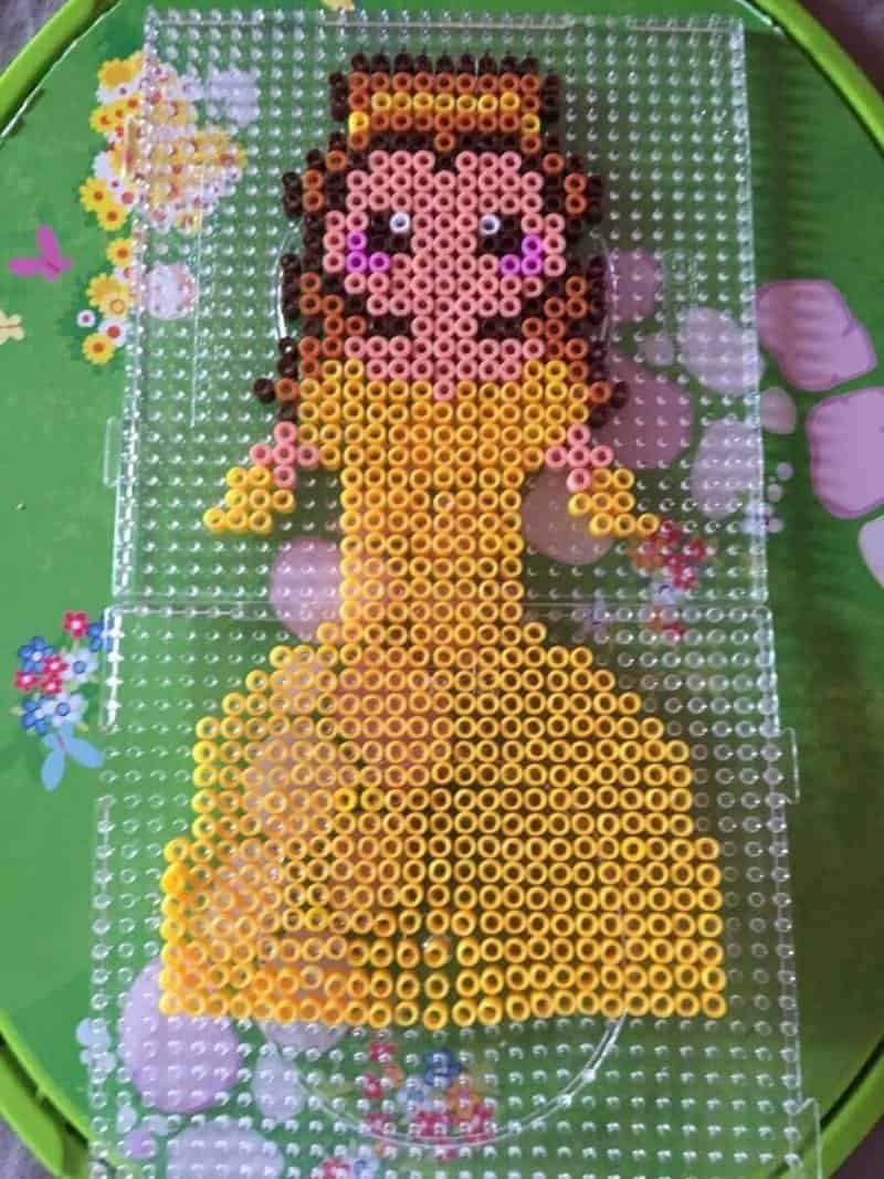Belle hama bead craft