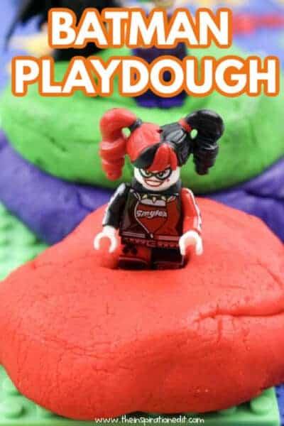 batman playdough craft